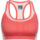 Icebreaker Meld Zone Sport Bra Women poppy red/sorbet